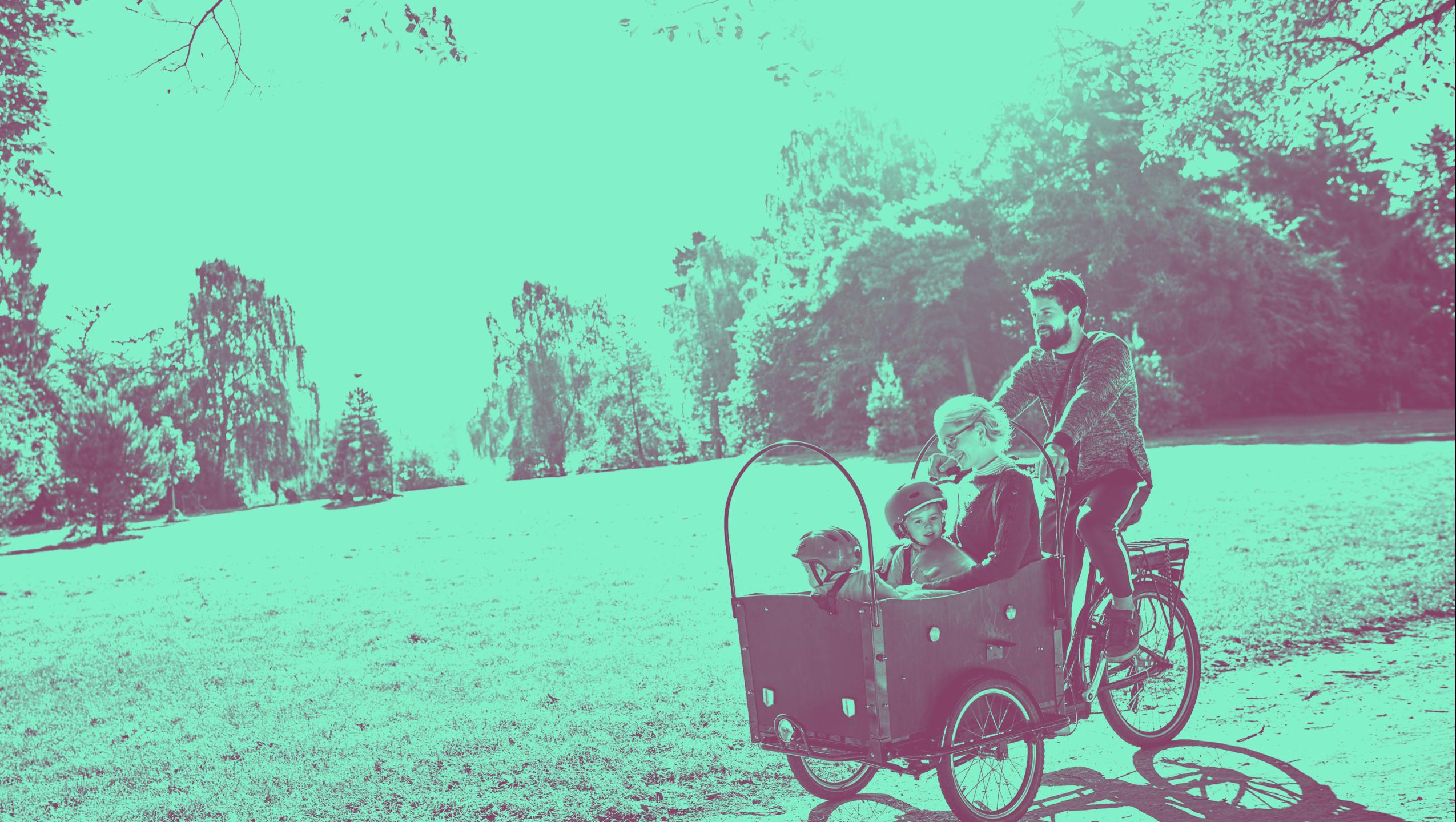 Familie cykellad